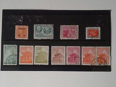 Taiwan - Small Selection of Stamps Issued Between 1946 and 1960