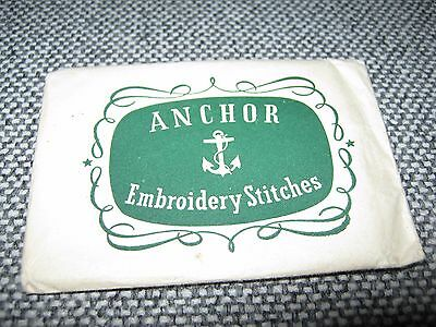 Vintage Anchor Embroidery Stitches Cards
