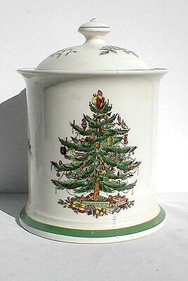 "Spode Stoke On Trent ""Christmas Tree"" Biscuit Barrel"