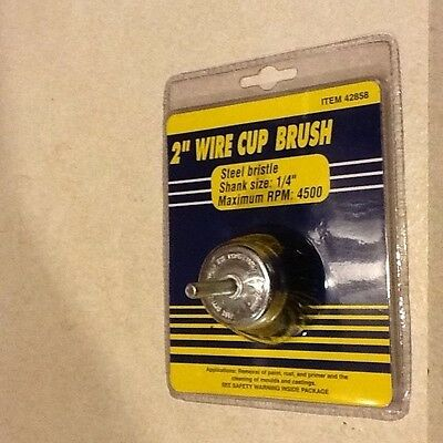 2 inch Wire Cup Brush with 1/4 in. Shank/New in package