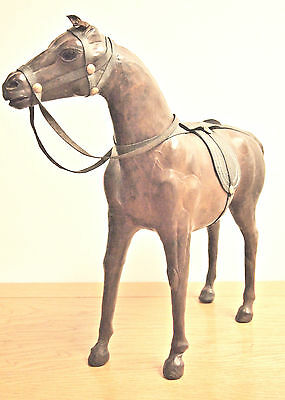 Vtg Fine Leather Horse / Equestrian Art Figurine/ Collectible/ Handcrafted