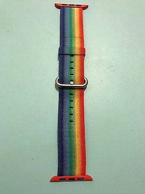 42Mm Apple Exclusive Gay Pride Rainbow Nylon Band