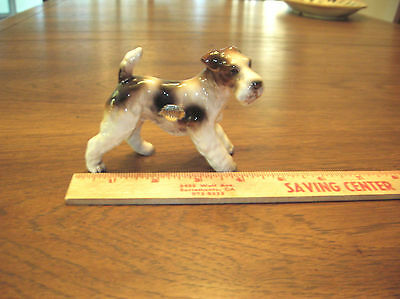 1960's PORCELINE WIRE FOX TERRIER BY ENESCO FIGURINE ... NO RESERVE...