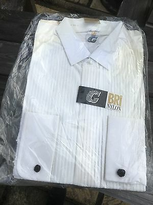 Mens White size 17 vintage dinner shirt brand new in packet