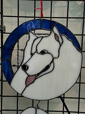 Samoyed Headstudy - Stained Glass / Leadlight