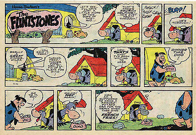 The Flintstones - Hanna-Barbera TV - color Sunday comic page - Sept. 15, 1974