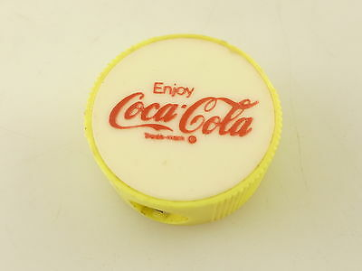 Vintage Enjoy Coca Cola Coke Advertising Round Yellow Pencil Opener