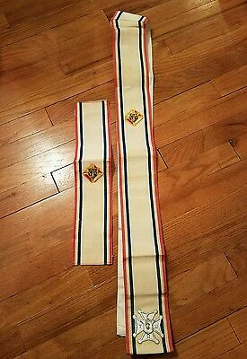 Vintage Knights of Columbus Sash and Patch Set
