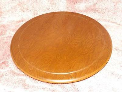 "16"" Vintage WOOD Cake Pedestal or Lazy SUSAN Stand Spinning Base"