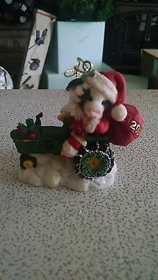 "Mary's Moo Moo ""Deere Santa"" Dated Ornament"