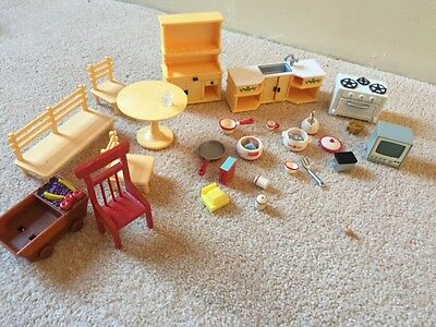 sylvanian family  furniture and other items