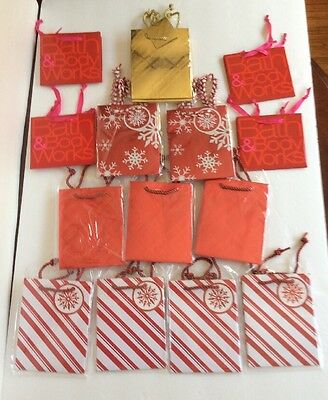 """NEW! Lot Of 15 Bath&Body Works Gift Bags Small Sizes 5""""x 4"""" Tissue Paper/ Tags"""