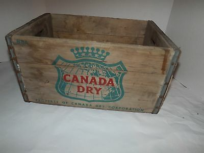 Vintage Canada Dry Crate Wooden Soda Bottle Ginger Ale Wood Box
