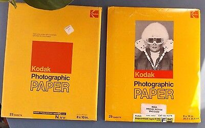 Vintage Kodak Photographic Polycontrast Rapid Paper Sealed 2 Packs Of 25