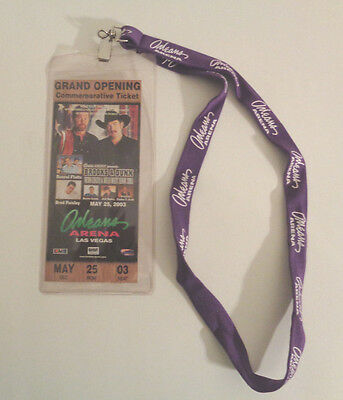 Brooks & Dunn Ticket Holder and Lanyard from 2003 Commemorative Ticket - Color