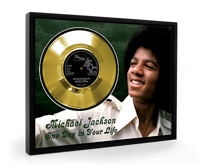 Michael Jackson One Day In Your Life Framed Gold Disc Display Vinyl (C1)