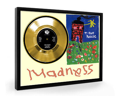 Madness Our House Framed Gold Disc Record Vinyl (C1)
