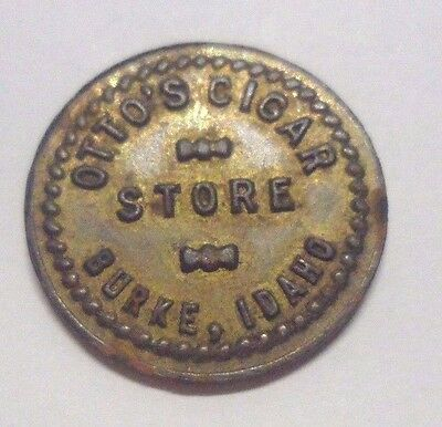 Vintage Otto's Cigar Store Burke Idaho Good For 5¢ In Merchandise Trade Token