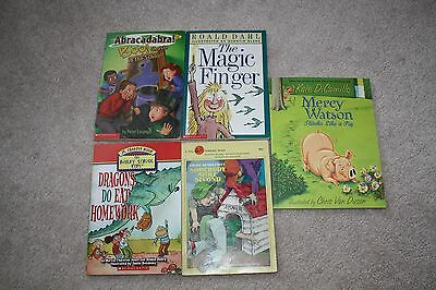 lot of 5 childrens books - Scholastic Jr & Chapter books