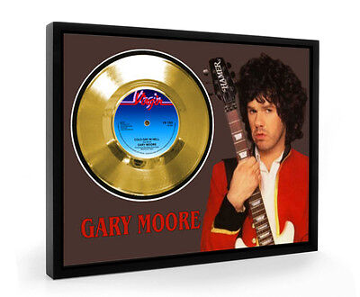Gary Moore Cold Day In Hell Framed Gold Disc Display Vinyl (C1)