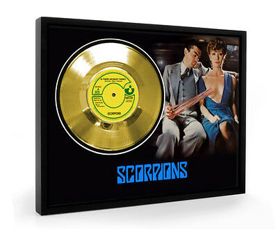 Scorpions Is There Anybody There Framed Gold Disc Display Vinyl (C1)