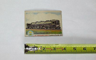 Vintage 1955 Topps Rails & Sails Railroad Card # 6 Camelback Locomotive Crrnj