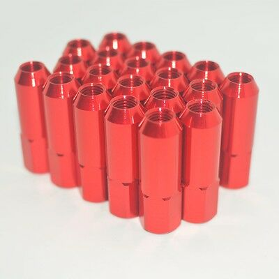 20Pcs M12X1.5 60Mm Extended Forged Aluminum Tuner Racing Lug Nut For Wheel/rims
