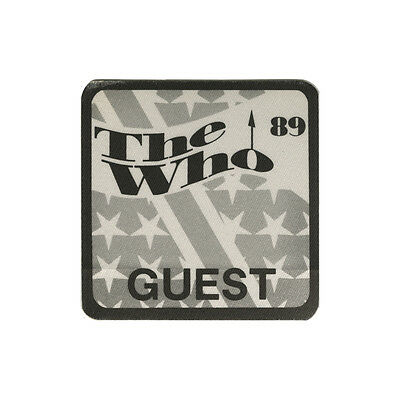 The Who authentic Guest 1989 tour Backstage Pass