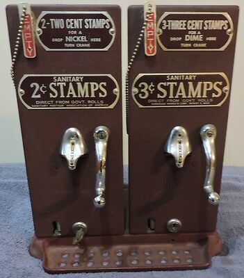 Antique Shermack Corp Hand Crank 5 & 10 Cent Stamp Machines Models 25 and 310