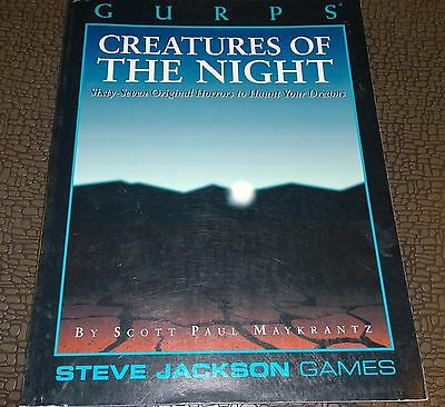 RPG GURPS Steve Jackson games Roleplaying Creatures of the Night