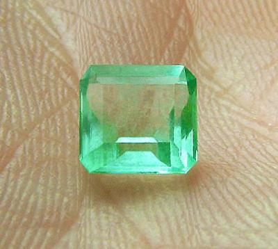 1.00 ct Natural Earth Mined Colombian Emerald Certified No Reserve