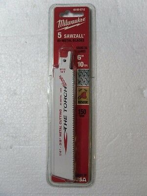 Milwaukee 6 in. 10 TPI Bi-Metal TORCH® SAWZALL®  Blade (5PK) 48-00-5712