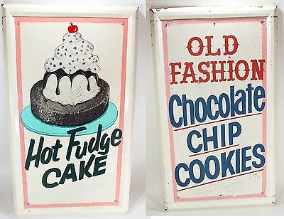 La Ca Fair Hand Painted Sign Vtg Carnival Food Stand Cake Bakery Store Display!!