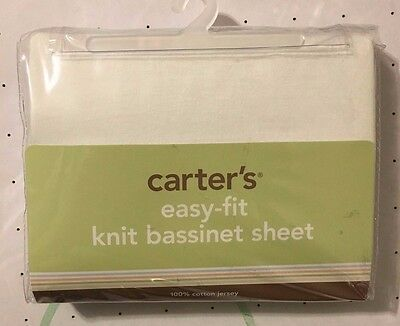 Carter's Easy Fit Jersey Cotton Bassinet Fitted Sheet, Ecru   (New)