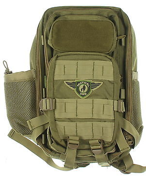 STELLAR Olive Green Tactical 100% Nylon Dad Diaper/Backpack With Changing Pad