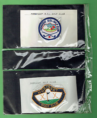 #aa.  Collection Of 24 Australian  Golf Cloth Patches