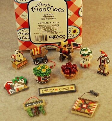 Mary's Moo Moos Ameri-Cow Mini Accessories Apples Pull Toy Quilt Love Cows Sign