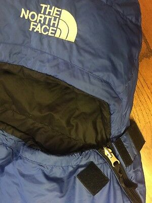 The North Face Blue Kazoo Goose Down Backpacking Sleeping Bag Long Nice!