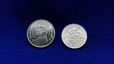 Thailand 1 Baht King Rama 9 hugs coin collection amulet