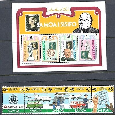 Samoa - 5 Miniature Sheets and Strip of 5 - Mint not Hinged
