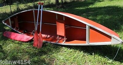 Canoe Coleman 3 Man Used. Plus Brand New 12 Volt Outboard Sea Snake + Outrigger