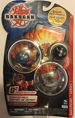 ! BAKUGAN starter pack Bakupearl B2 series 3 pack Gray/Purple Black/Purple Blue