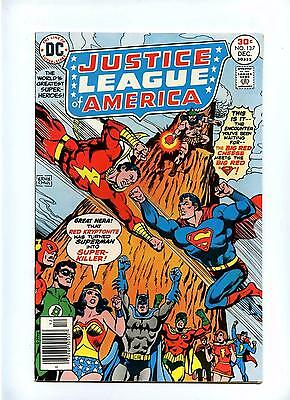 Justice League of America #137 - DC 1976 - Superman Battles G.A. Capt Marvel NM-