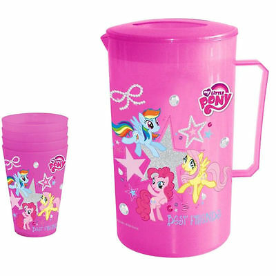 HASBRO MY LITTLE PONY Jug with Lid + 4 Tumblers Set - Party Picnic