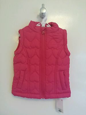 Young Dimension Girls Pink Heart Padded Gilet/Bodywarmer - 2-3 Years - BNWT