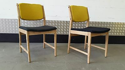 Pair of Vintage Chairs Design Loft Modern New Upholstery Mid Century Renovated