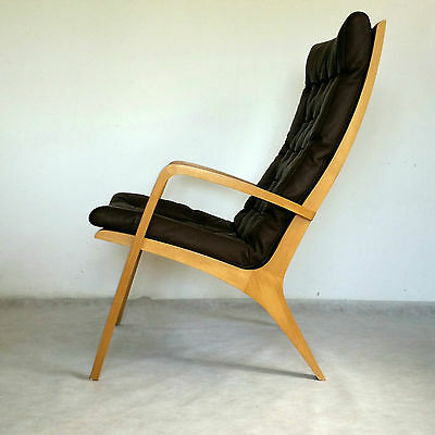 Vintage DANISH Armchair LEATHER Design Great Condition Midcentury Loft Modern