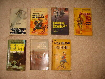 Mixed Group of Paperback Western Novels – Lot of 7