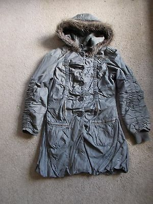 Next girl's Parker type Coat - Size 10 - brown