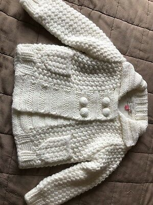 John Lewis Ecru Cardigan 6-9 Months New Without Tags